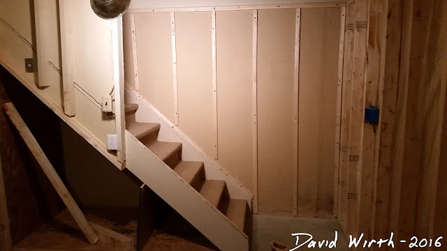 framing wall down stairs, steps, how to, size, wide