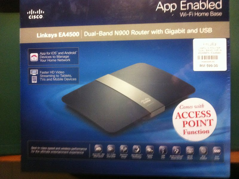 PC Parts and Accessories: Cisco Linksys EA4500 Router - Unboxing