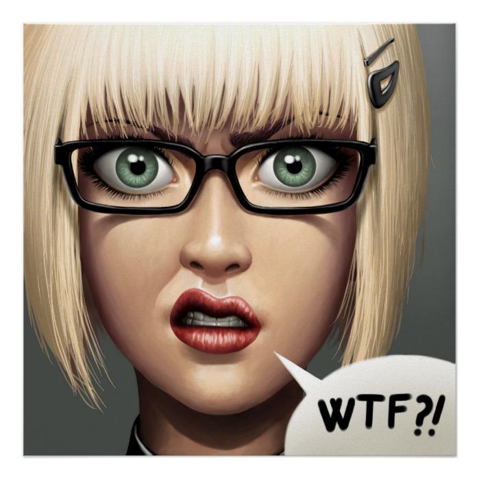 WTF?! - A Closeup Digital Art Portrait
