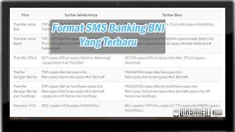 Format SMS Banking BNI Terbaru Untuk Cek Saldo, Transfer, Isi Pulsa dll