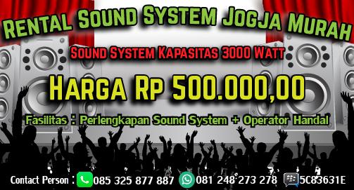 Rental dan Sewa Sound System Jogja Murah