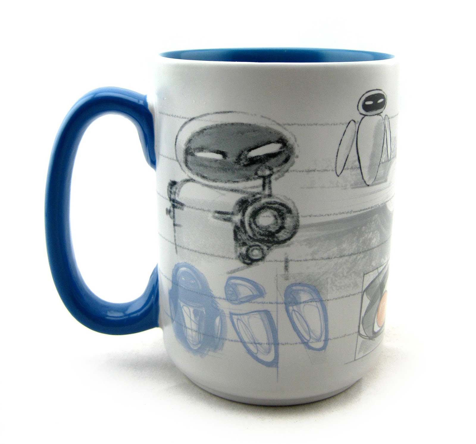 Dan the pixar fan wall e eve art of pixar mug - Walle and eve mugs ...