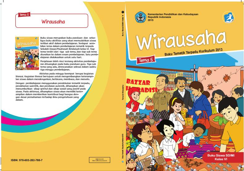Download Buku Tematik Kurikulum 2013 SD/MI Kelas 6 Tema 5 Wirausaha Edisi Revisi Format PDF