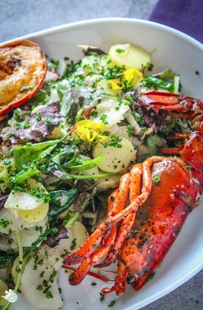Salat aus Kartoffeln und Topinambur