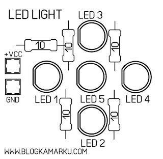 cara membuat lampu led dari charger hp
