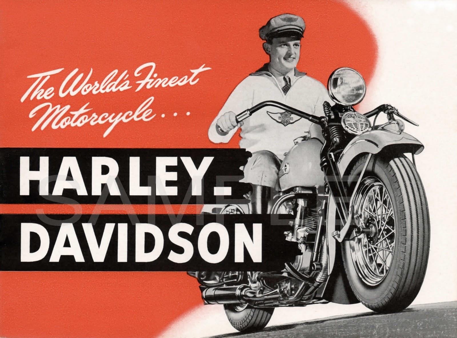 Harley Davidson Advertising: Vintage Motorcycle Advertisements Harley-Davidson Indian