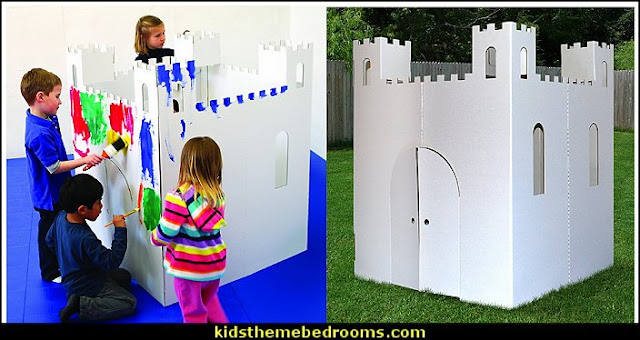 Playhouse Castle  playrooms alphabet numbers decorating ideas - educational fun learning letters & numbers decor - abc 123 theme bedroom ideas - Alphabet room decor - Numbers room decor - Creative playrooms educational children bedrooms - Alphabet Nursery - Alphabet Wall Letters - primary color bedroom ideas - boys costumes - girls costumes pretend play - fun playroom furniture