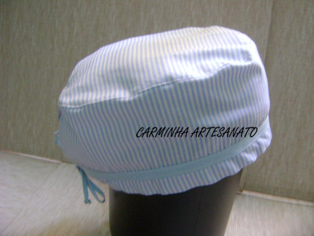 4ab6fc6803a9e Carminha Artesanato  TOUCA HOSPITALAR EM TECIDO MASCULINA