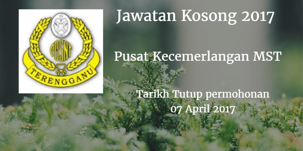 Jawatan Kosong Pusat Kecemerlangan MST 07 April 2017