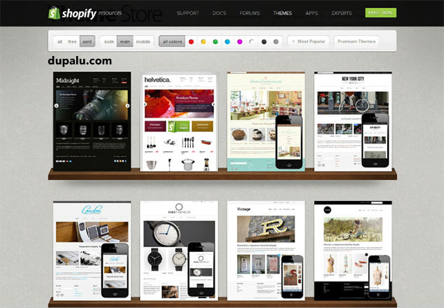 Plantillas Shopify. Dupalu.com