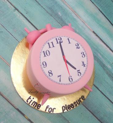 tort z wydrukiem czas