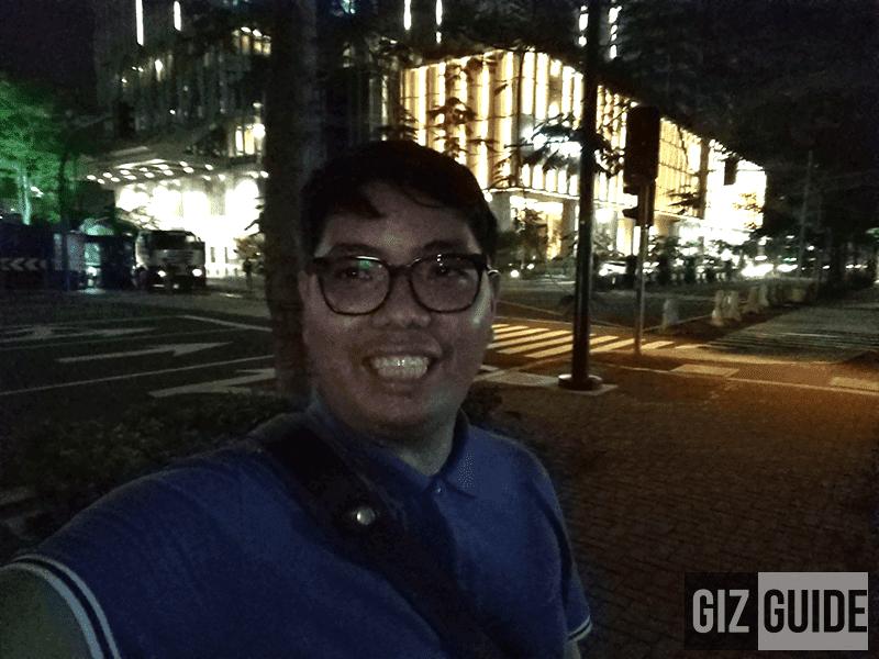 Lowlight selfie isn't good