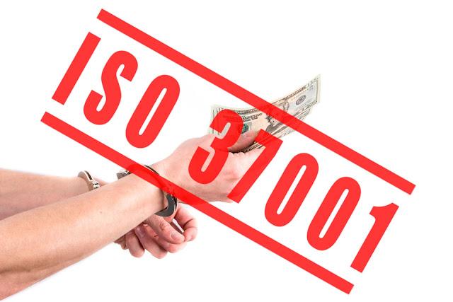 Alegoria de un soborno prohibido  y controlado con la ISO 37001