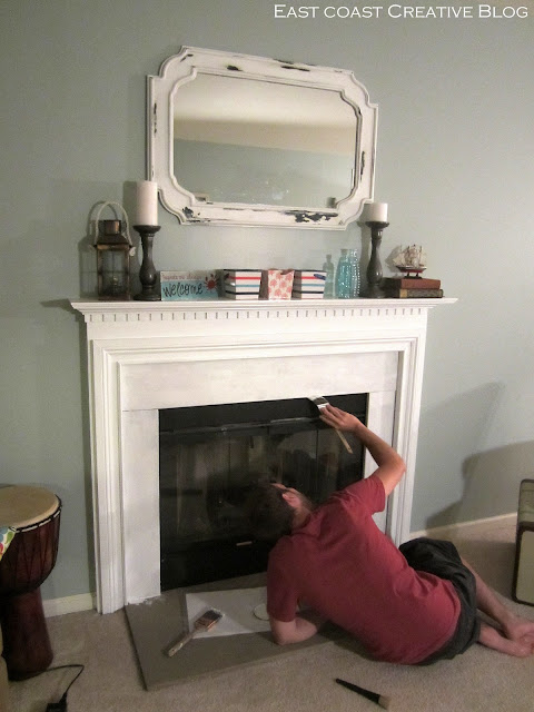 painting a fireplace