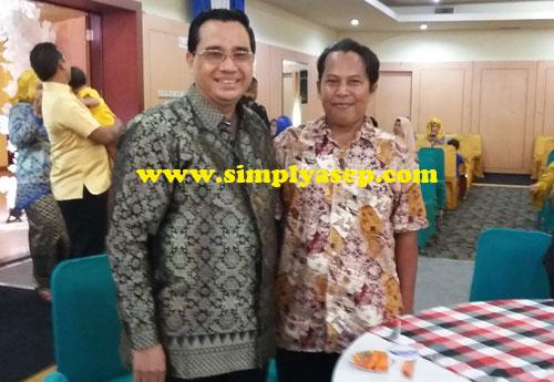 REUNI : Bersama penulis/sejarawan Kalimantan Barat, Bung Syafarudin Usman MHD, rekan saya saat masih jadi reporter Mimba Untan di era 90 yang lalu.Foto Asep Haryono