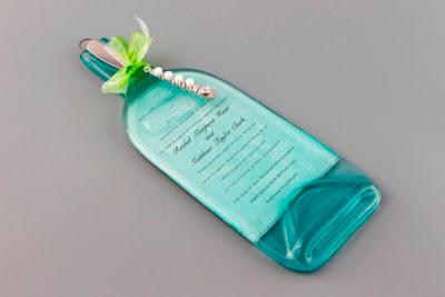 Arte con botella de vidrio reciclada