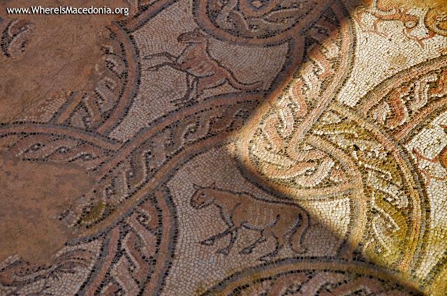 Mosaic - St Pantelejmon (Plaoshnik) church, Ohrid, Macedonia