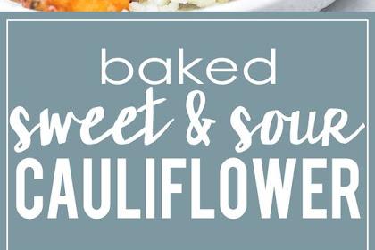 Baked Sweet & Sour Cauliflower