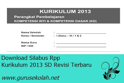 Download Silabus Rpp Kurikulum 2013 SD Revisi Terbaru