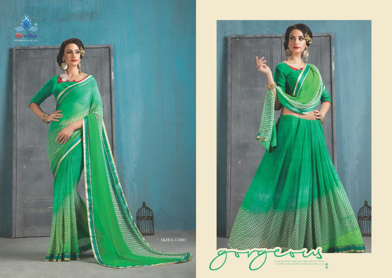 Akira Vol 1 – Indian Women Exclusive Georgette Printed Saree Wholesale