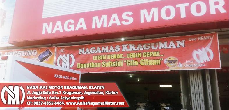 Naga Mas Motor Kraguman, Promo Motor Hondanya Setiap Hari