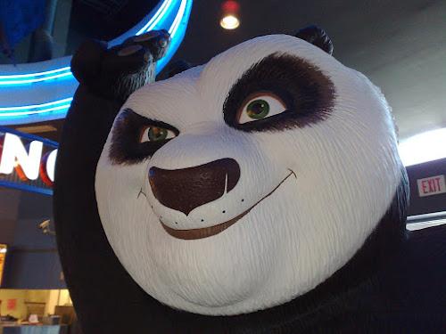 Estátua do mais famoso lutador de kung fu animal de todos os tempos, o Kung Fu Panda