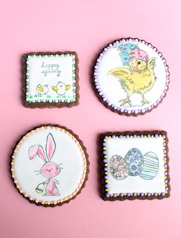 Stamped Easter Chocolate Sugar Cookies Gwen S Kitchen