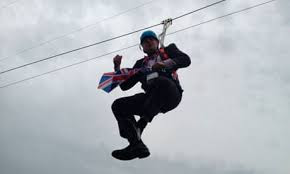 Boris on zipwire