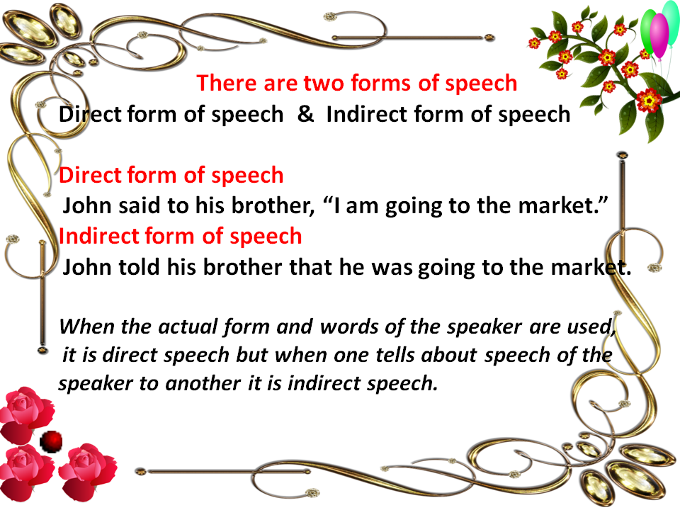 rules of narration change in english grammar pdf free