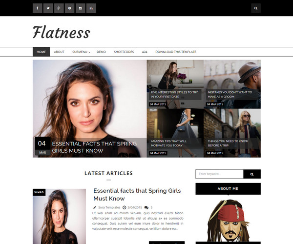 Flatness Template blogspot