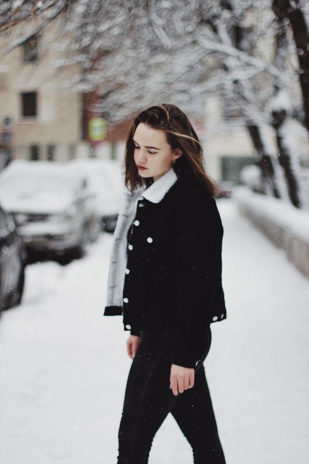 Alina Ermilova | Denim Shearling Jacket