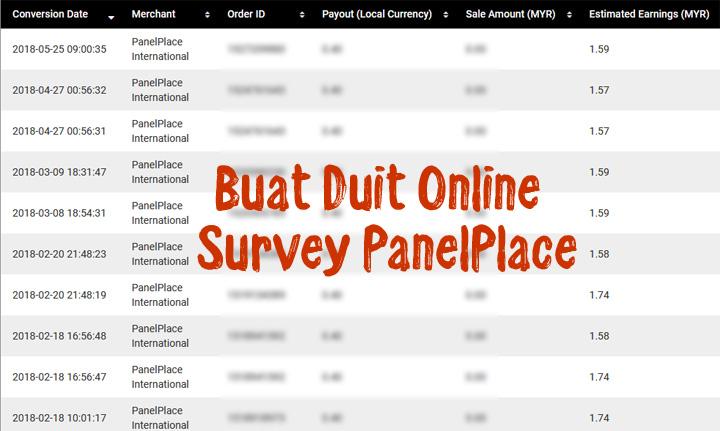 Buat Duit Online Dengan Survey PanelPlace
