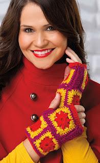 crochet fingerless gloves--Budget Friendly DIY Gift Idea
