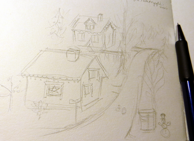 Christmas Card Sketch