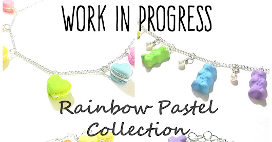 WIP Work In Progress - New Rainbow Pastels Collection