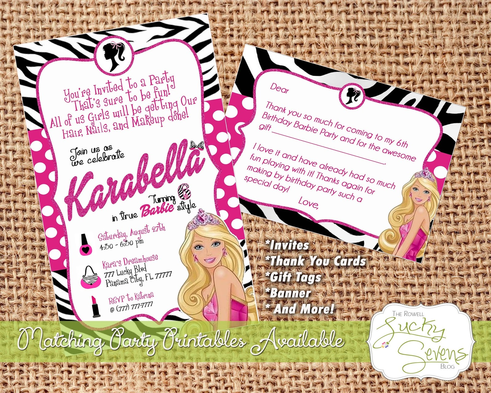 Barbie Party Invites Image collections - Party Invitations Ideas