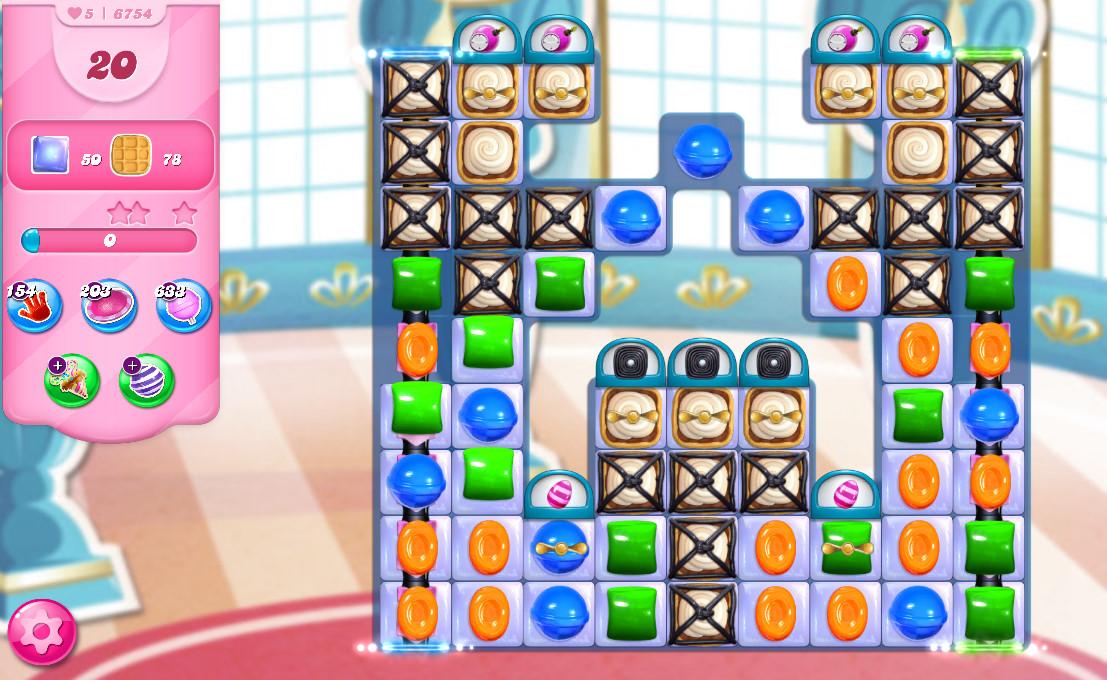 Candy Crush Saga level 6754