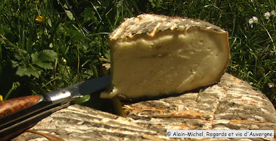 Le Paillon, fromage de saint Nectaire, Puy-de-Dôme.