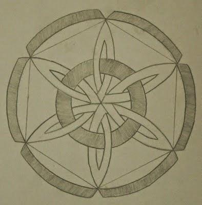 Contoh Gambar Ragam Hias Geometris Karya Siswa