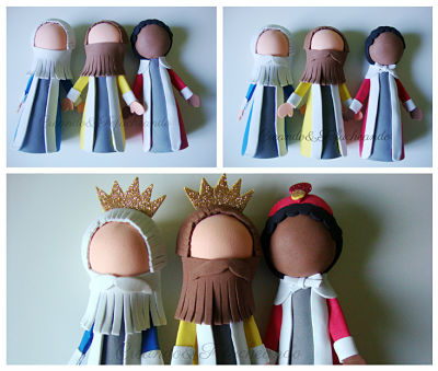 Pelos-barbas-y-coronas-Fofuchos-reyes-magos-colaboracion-con-creavea