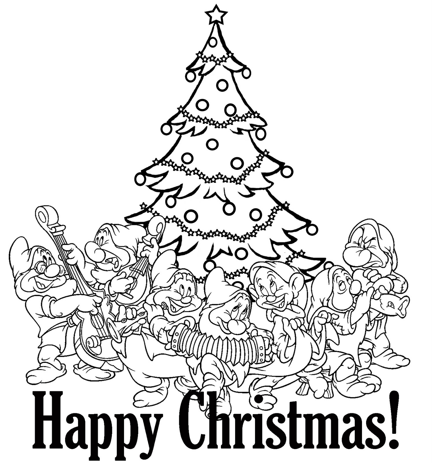PRINCESS COLORING PAGES | free printable disney princess christmas coloring pages