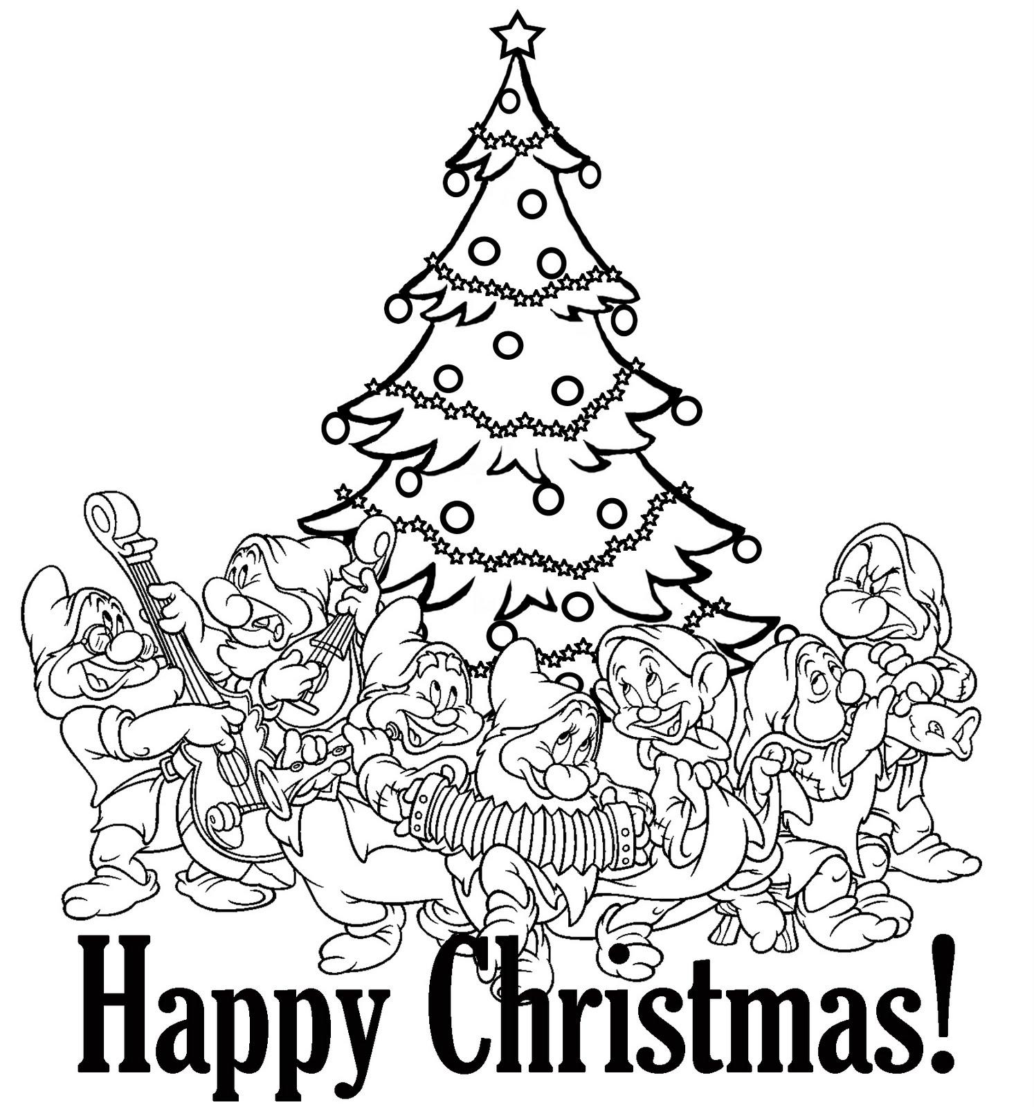 PRINCESS COLORING PAGES | free printable disney princess christmas coloring pages