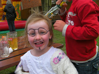 face painting glasses