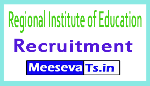 Regional Institute of Education RIE Recruitment