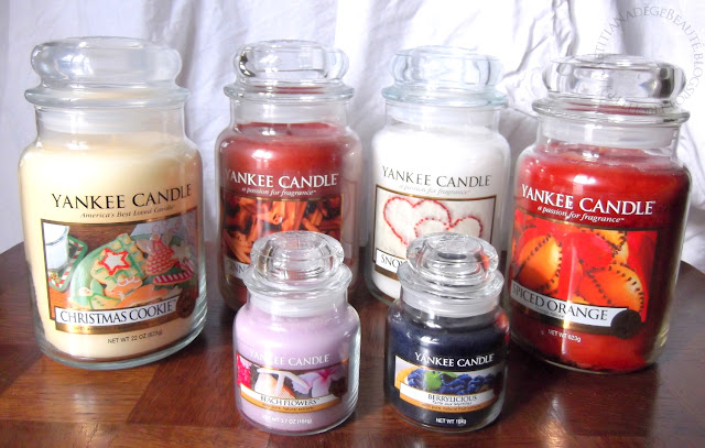 YANKEE CANDLE  - Spiced Orange,Cinnamon Stick,Berrylicious,Beach Flowers,Christmas Cookie,Snow In Love