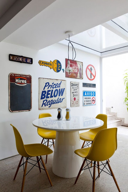 cadeiras -amarelas-decoração-sala-de-jantar