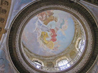 A copy of Pellegrini's original work in the reconstructed dome of Castle Howard in Yorkshire