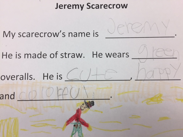 Reading2success: Adjectives - Describing Words of Jeremy Scarecrow