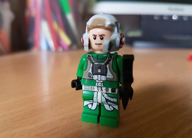 Зеленый пилот повстанцев фигурка лего Звездные войны, Стар Варс