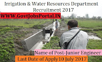 Irrigation & Water Resources Department Recruitment 2017– 500 Junior Engineers